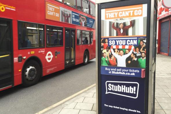 - Stub Hub OOH usage London - Jack Terry